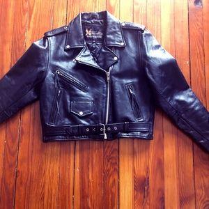 Xelement Classic Leather Motorcycle Jacket